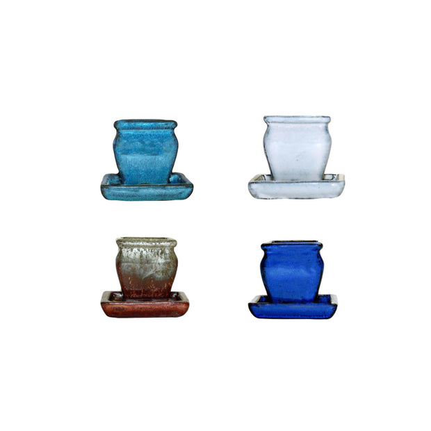 "2"" Rounded Rectangle Combo - All Colors (4 total pots)"