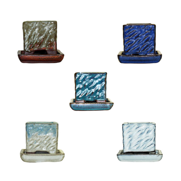 "2"" Rugged Square Combo - All Colors (5 total pots)"