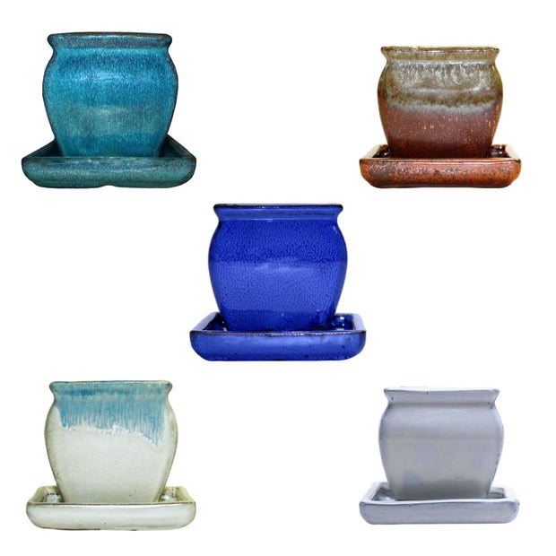"3"" Rounded Rectangle Combo - All Colors (5 total pots)"