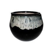 "8"" White Diamond Over Onyx Teardrop Self Watering Pot"