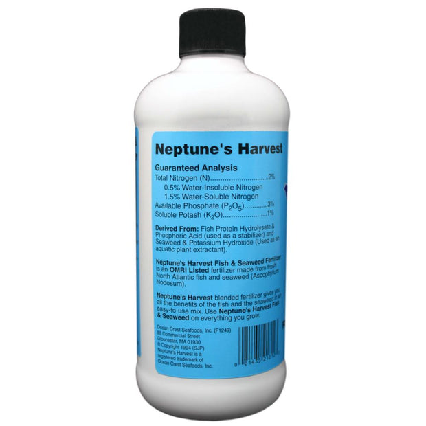Neptunes Harvest Fish and Seaweed Supplement - 16 oz (Pint)