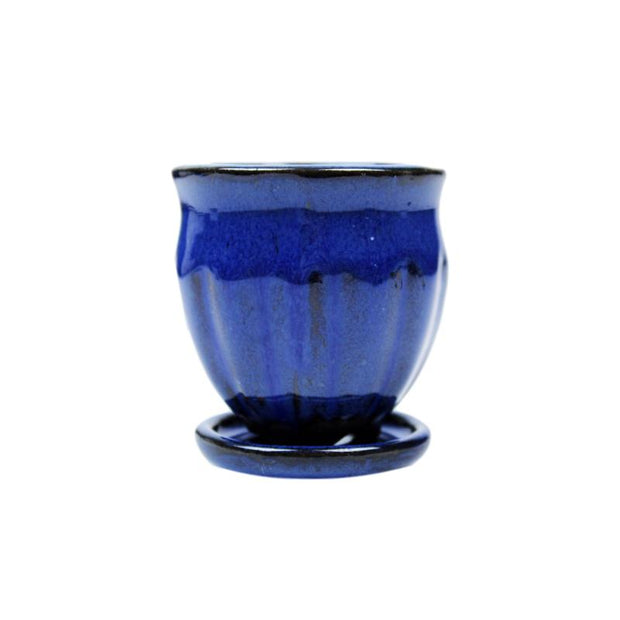 "2"" Midnight Blue Ceramic Succulent Pot - Amphora Vase"