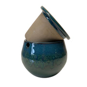 "6"" Teal Ocean Teardrop Self Watering Pot"