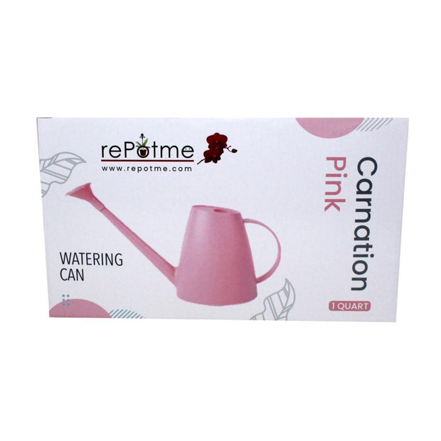 rePotme 1 Quart Plastic Watering Can with Rose - Carnation Pink