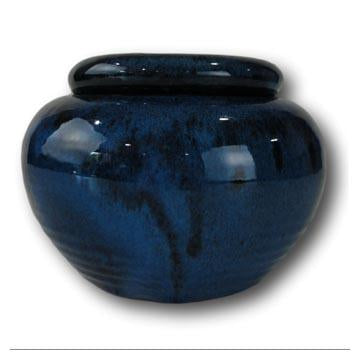 7 Sapphire Blue Pearl African Violet Pot - Ceramic
