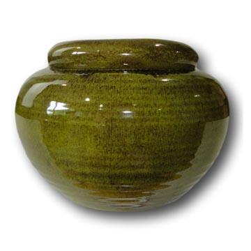 7 Meadow Green Pearl African Violet Pot - Ceramic