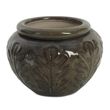 7 Earthen Round Leaf Accent African Violet Pot - Ceramic