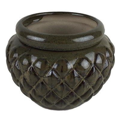 7 Moss Round Diamond African Violet Pot - Ceramic