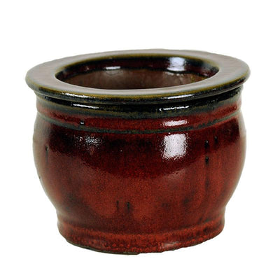 5 Parisian Red Round African Violet Pot - Ceramic