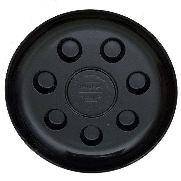 "10"" Heavy Duty Black Plastic Saucer"