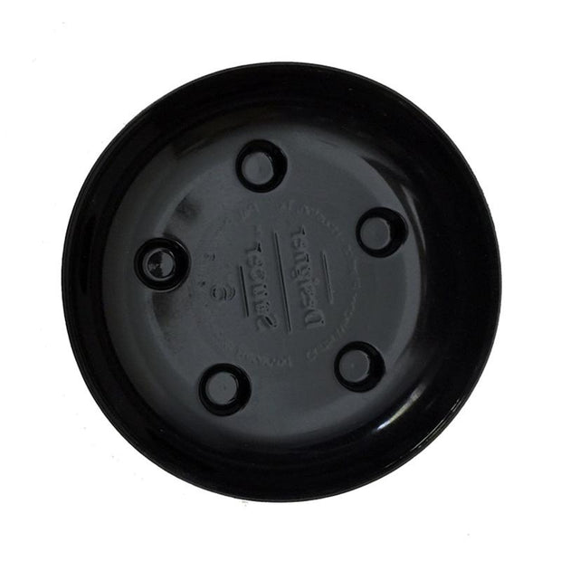 6 Heavy Duty Plastic Saucer - Black