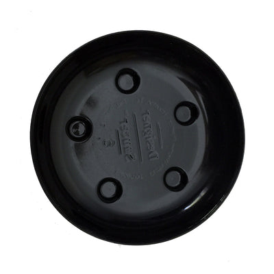 "6"" Heavy Duty Black Plastic Saucer"