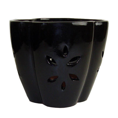 "7"" Black Star Ceramic Orchid Pot"