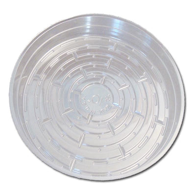 10 Clear Plastic Saucer