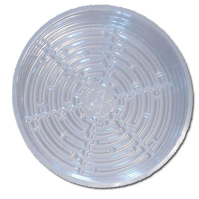 "11"" Clear Plastic Saucer - 16 Pack"