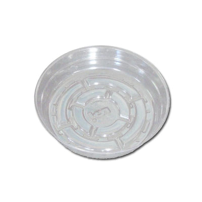5 Clear Plastic Saucer