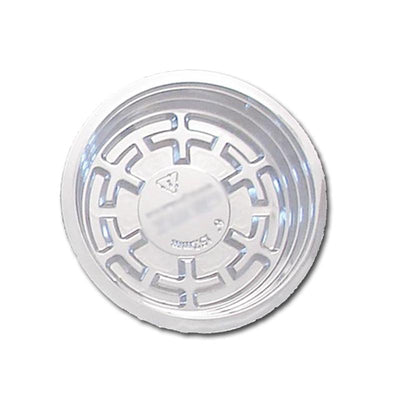 6 Clear Plastic Saucer