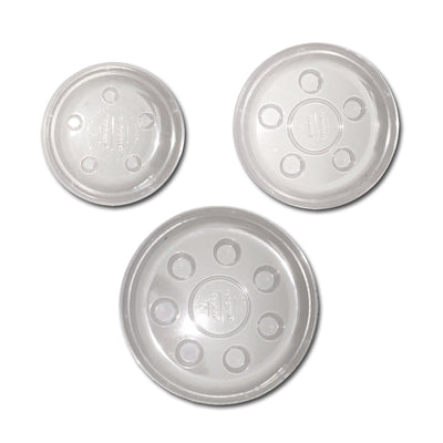Mixed Set of Heavy Duty Clear Plastic Saucers