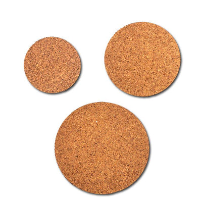 Mixed Set of 3 Cork Mat Coasters