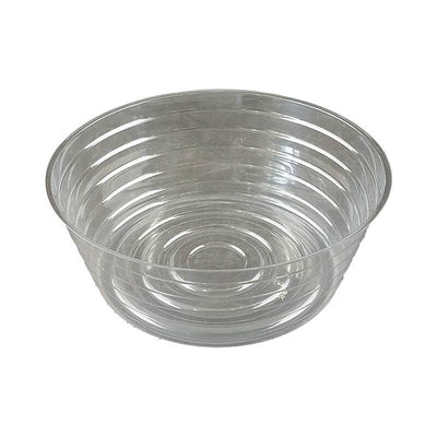 "10"" Clear Plastic Saucer - Extra Deep"