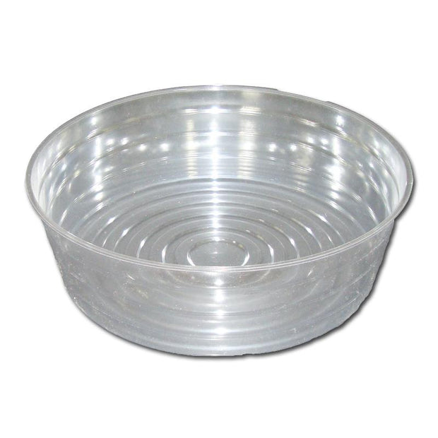 "12"" Clear Plastic Saucer - Extra Deep"