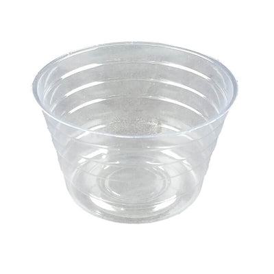 "4"" Clear Plastic Saucer - Extra Deep"