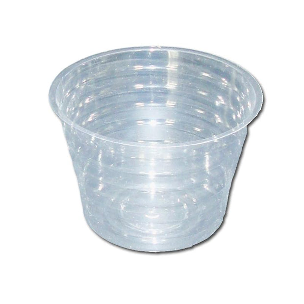"5"" Clear Plastic Saucer - Extra Deep"