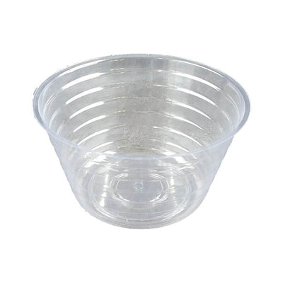 "6"" Clear Plastic Saucer - Extra Deep"