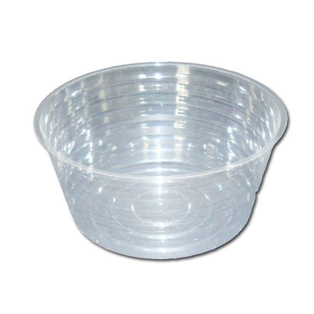 "8"" Clear Plastic Saucer - Extra Deep"