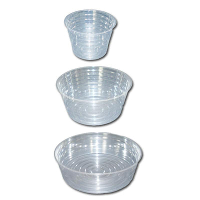 Mixed Set of Clear Plastic Saucers - Extra Deep