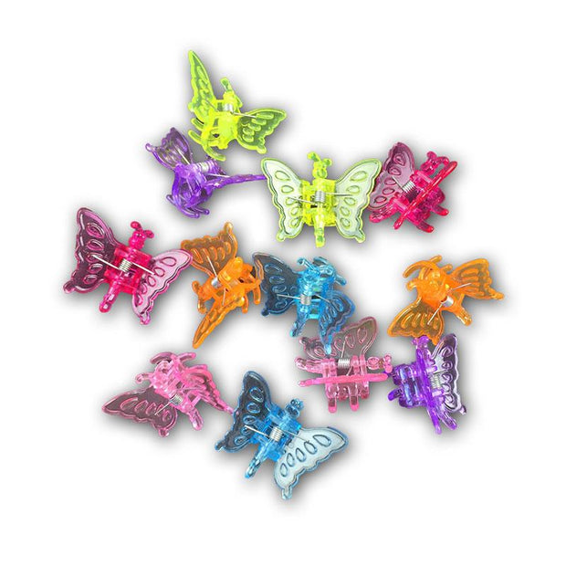Butterfly Flower Clips - Dozen
