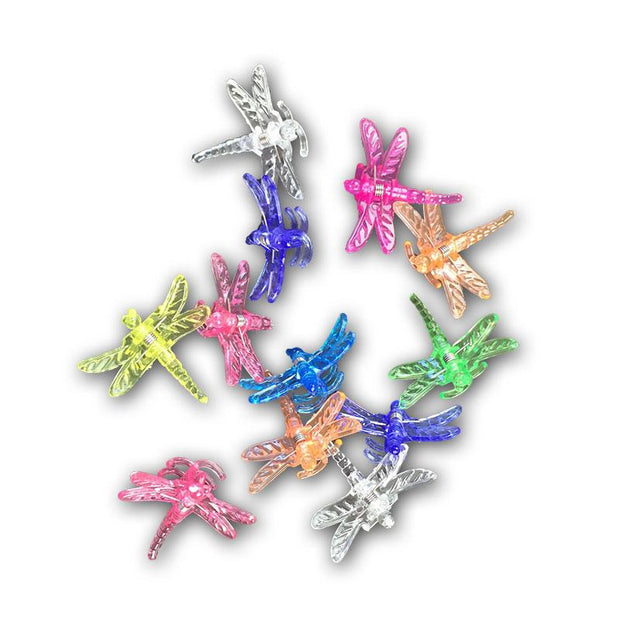 Dragonfly Flower Clips - Dozen