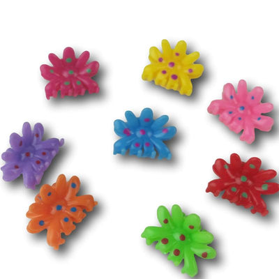 Daisy Cartoon Flower Clips - Dozen