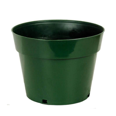 "10"" Green Plastic Pot"