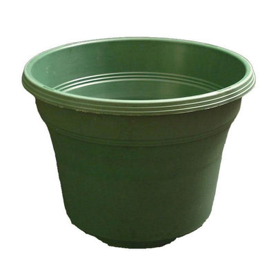 "14"" Matte Finish Green Plastic Pot"