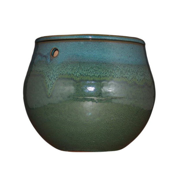 "10"" Teal Ocean Teardrop Self Watering Pot"