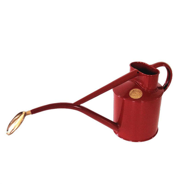 Haws 1 Quart Metal Watering Can With Rose - Ruby