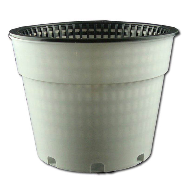 "8"" White Oxygen Core Dual Orchid Pot"