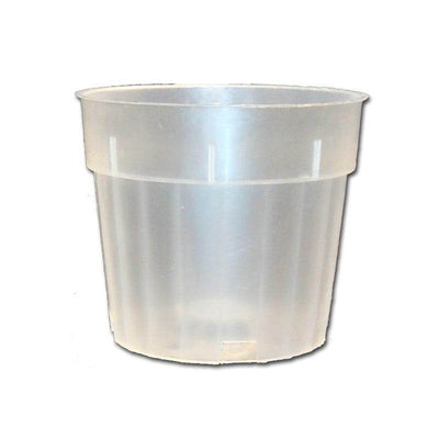 "4"" Rigid Fluted Clear Orchid Pot"