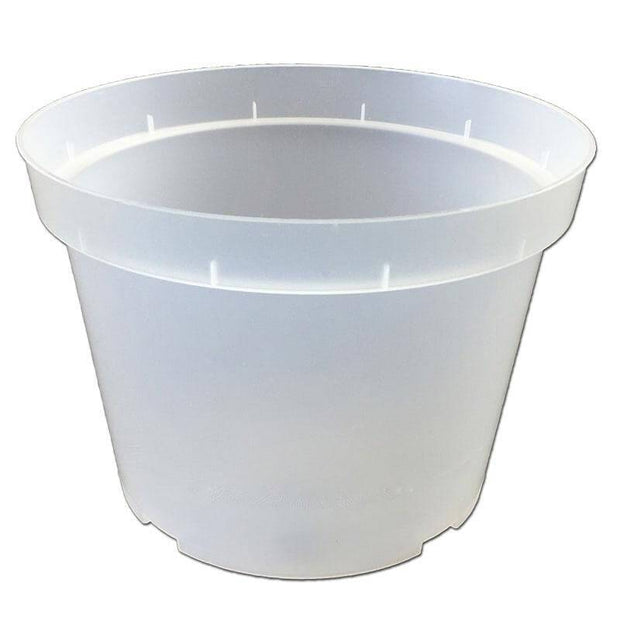 "7"" Rigid Clear Orchid Pot"