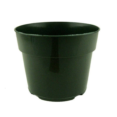 "6.5"" Green Plastic Pot"