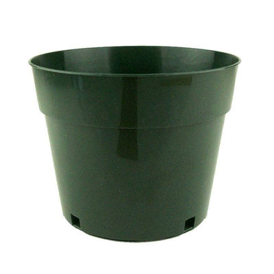"7"" Green Plastic Pot"