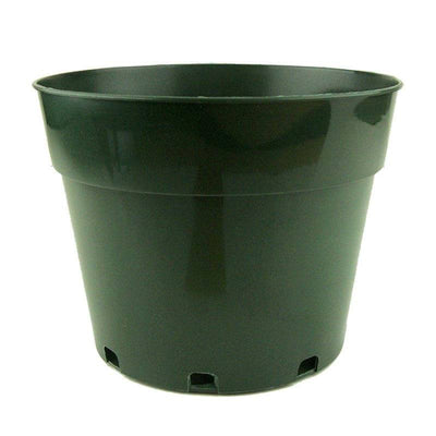 "8"" Green Plastic Pot"