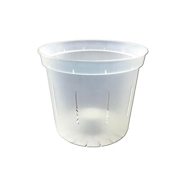 "3"" Slotted Clear Orchid Pot"