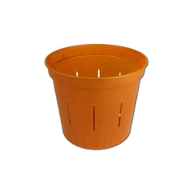 "3"" Copper Amber Slotted Orchid Pot"