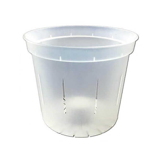 "4"" Slotted Clear Orchid Pot"