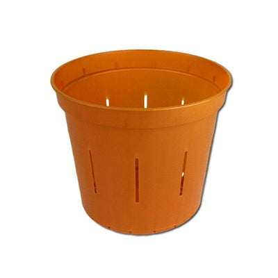 "4"" Copper Amber Slotted Orchid Pot"