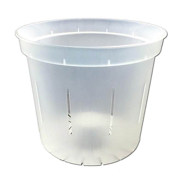 "5"" Slotted Clear Orchid Pot"