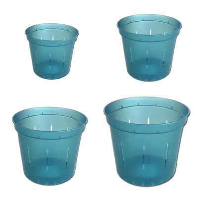 Growers Assortment of Blue Sapphire Slotted Orchid Pots