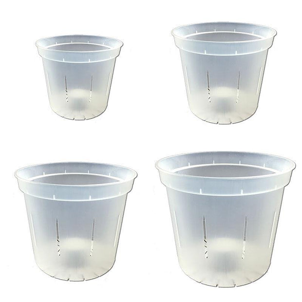 Crystal Clear Slotted Violet Pot - Growers Assortment Of 4 - Slot-Pots